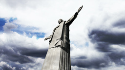 Rio Jesus Clouds Timelapse 14 Stock Video Footage