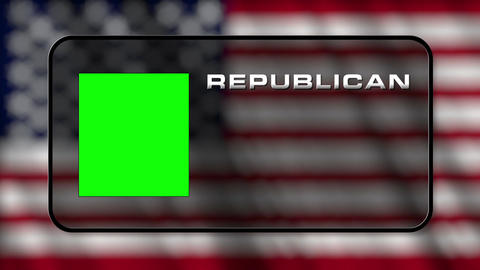 USA Presidential Election Vote 04 loop GS Animation