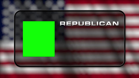 USA Presidential Election Vote 04 loop GS Stock Video Footage