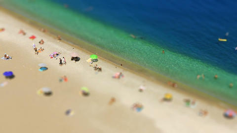 swimming with miniature effect Stock Video Footage