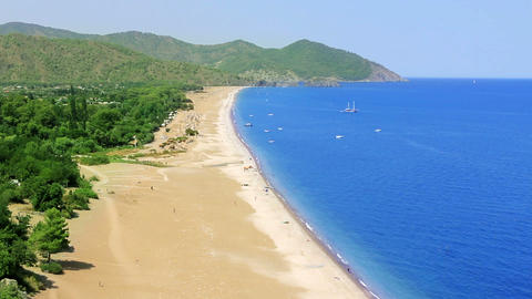 mediterranean coast from high angle Stock Video Footage
