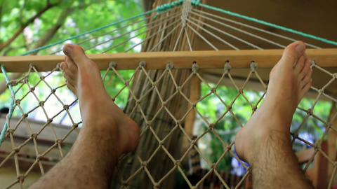 On hammock Stock Video Footage