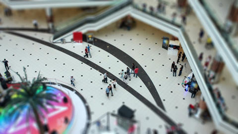 miniature shopping center Stock Video Footage