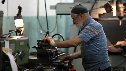 lathe factory Stock Video Footage