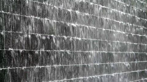 heavy rain flows Stock Video Footage