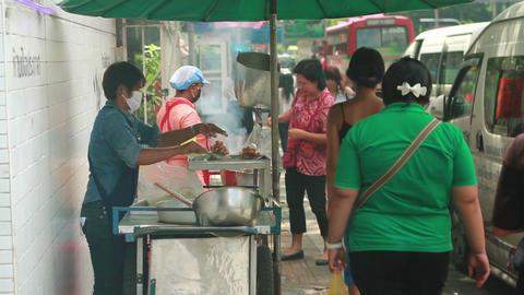 Thai street foods Stock Video Footage