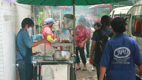 Thai street foods Stock Video Footage