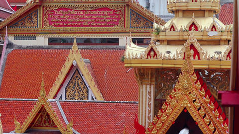 Buddhist Temple roofs Stock Video Footage