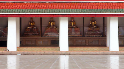 Golden Buddha Statues Stock Video Footage