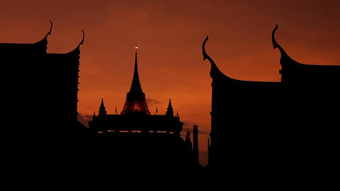Buddhist Temple silhouette Stock Video Footage