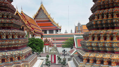 wat pho temple Stock Video Footage