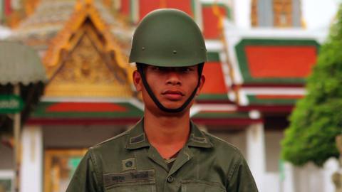 Thai soldier Stock Video Footage