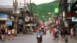 Massage Streets Of Phuket, Thailand stock footage