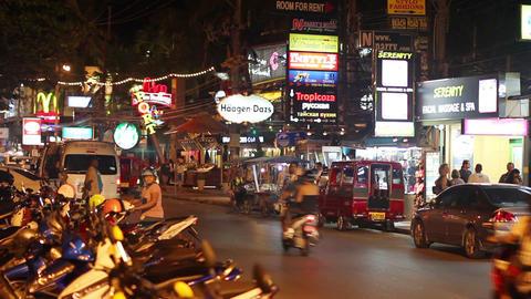 Shiny Phuket street in Thailand Stock Video Footage