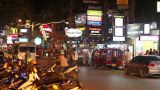 Shiny Phuket Street In Thailand stock footage