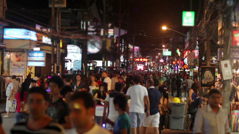 Massage streets of Phuket, Thailand Stock Video Footage