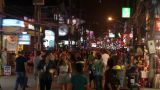 Massage streets of Phuket, Thailand Footage