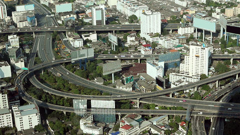 traffic from high angle Stock Video Footage