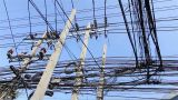 Messy electric cables Footage