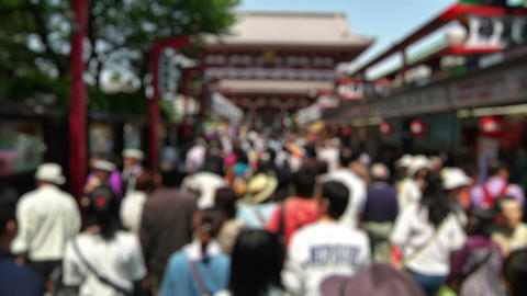 Anonym Crowd Asakusa Tokyo SlowMotion 60fps 14 Footage