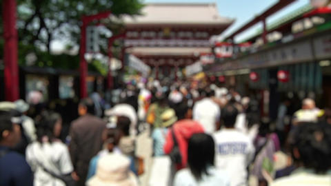 Anonym Crowd Asakusa Tokyo SlowMotion 60fps 14 Stock Video Footage