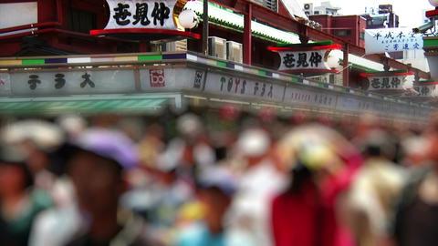 Anonym Crowd Tokyo Asakusa SlowMotion 60fps 01 Stock Video Footage