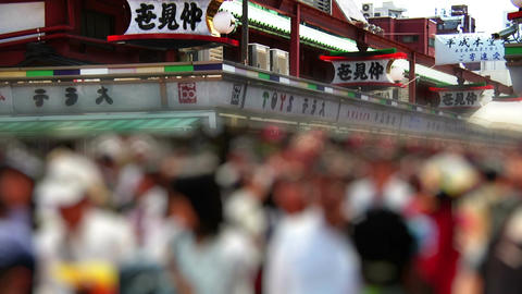 Anonym Crowd Tokyo Asakusa SlowMotion 60fps 01 Footage