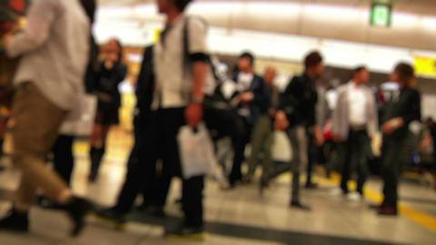 Anonym Crowd Tokyo Subway SlowMotion 60fps 18 Stock Video Footage