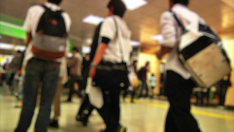 Anonym Crowd Tokyo Subway SlowMotion 60fps 18 Footage