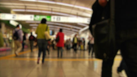 Anonym Crowd Tokyo Subway SlowMotion 60fps 20 Stock Video Footage