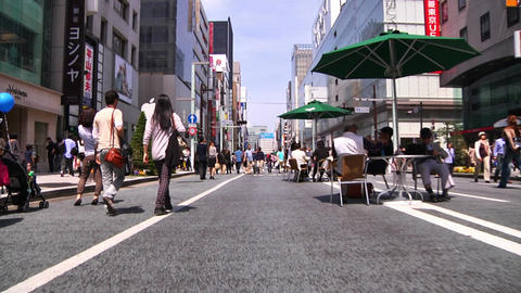 Crowd Ginza Tokyo SlowMotion 60fps 22 Stock Video Footage