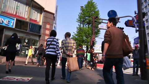 Crowd Tokyo SlowMotion 60fps 15 Stock Video Footage
