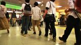 Crowd Tokyo Subway SlowMotion 60fps 18 stock footage