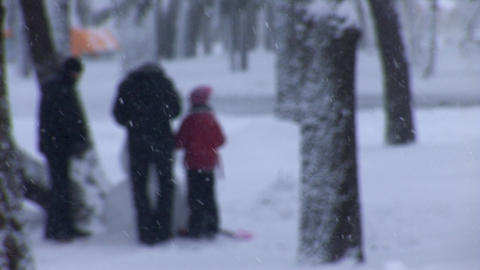 snow play 2 Stock Video Footage