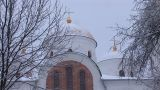 Snow Temple 10 stock footage