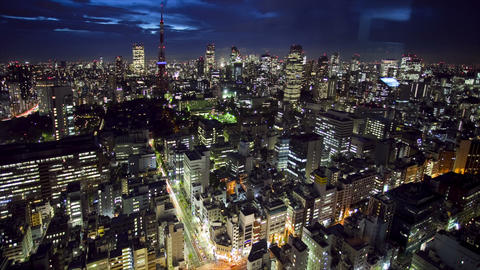 Tokyo Tower and skyline Footage