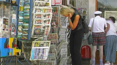 News stand Stock Video Footage