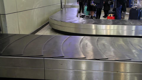 Baggage conveyor1 Stock Video Footage