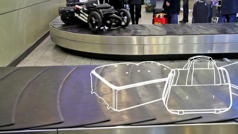 Lost luggage Stock Video Footage
