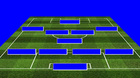 3D BS Football Lineup 451 Stock Video Footage