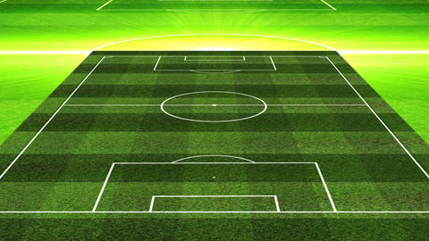 3D Football Lineup 451 Stock Video Footage