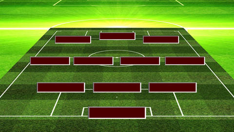 3D Soccer Lineup 343 Stock Video Footage