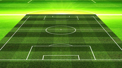 3DSoccerLineup442 Stock Video Footage