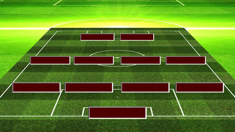 3DSoccerLineup442 Animation