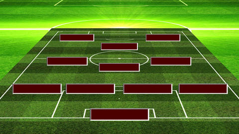 3D Soccer Lineup 4312 Stock Video Footage