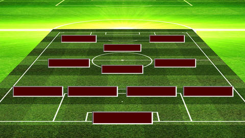 3D Soccer Lineup 4312 Animation