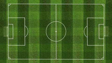 SoccerFieldHD3in1 Stock Video Footage