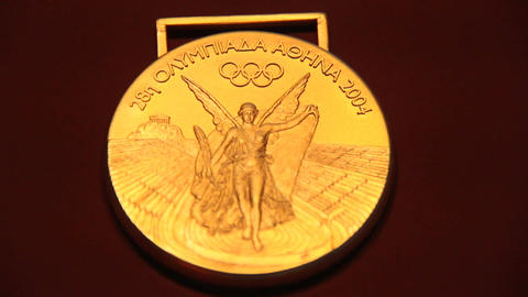 OlympicMedals Sydney Athens Beijing Stock Video Footage