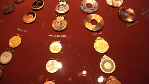 Olympic Medals All Time Stock Video Footage