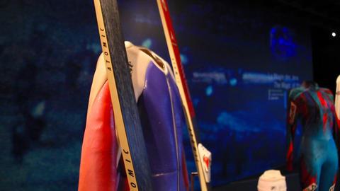 Olympic Ski Gears Footage